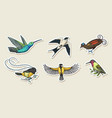 small birds of paradise stickers wilson s vector image