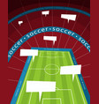 soccer stadium with speech bubble vector image