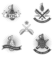 spesial force emblems vector image vector image