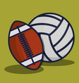 sports equipment design vector image vector image