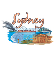 sydney doodles vector image vector image
