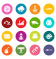 timber industry icons set colorful circles vector image vector image