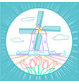 traditional holland icon vector image vector image