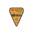 traveling outdoor badge scout adventure camp vector image vector image