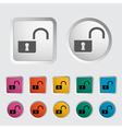 Unlock icon vector image
