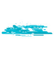 waves in flat style isolated vector image vector image