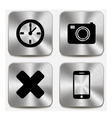 Web icons on metallic buttons set vol 7 vector image