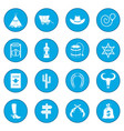 wild west cowboy icon blue vector image vector image