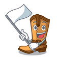 with flag leather cowboy boots shape cartoon funny vector image vector image