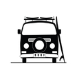 surf vehicle icon in black color vector image