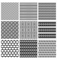 9 universal different seamless patterns vector image