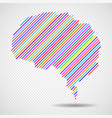 abstract colorful brain of line vector image vector image