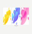 abstract geometric shapes liquid gradient banners vector image vector image