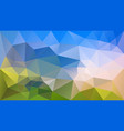 abstract irregular polygonal background blue sky vector image vector image