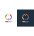 abstract people design represents teamwork vector image vector image