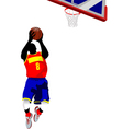 al 0714 basketball 01 vector image vector image