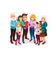 baby big family portrait vector image vector image