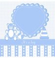 baby boy shower invitation car vector image