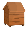 bee house icon cartoon style vector image vector image
