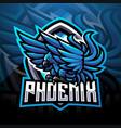 blue phoenix sport mascot logo vector image vector image