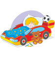 Boy sleeping vector image vector image