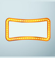 Bright glittering retro cinema bulb frame sign