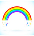 Bright isolated rainbows with color drops vector image vector image