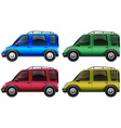 Cars in four different colors vector image vector image