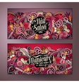 Cartoon cute doodles Nail salon banners vector image vector image