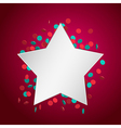 celebration star2 vector image vector image