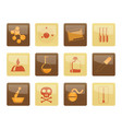 chemistry industry icons over brown background vector image