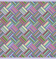 colorful geometric diagonal striped tile mosaic vector image vector image