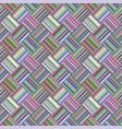 colorful geometric diagonal striped tile mosaic vector image