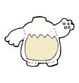 comic cartoon polar bear body mix and match comic vector image vector image
