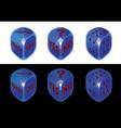 Conceptual dice set vector image vector image
