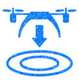 copter arrival grunge icon vector image vector image