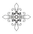 cross and flower tattoo isolated icon design vector image vector image