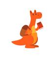cute kangaroo animal cartoon character standing vector image vector image