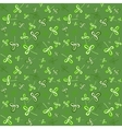 Dark green seamless clover pattern vector image