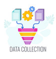 data collection icon information falls into the vector image vector image