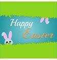 Easter rabbit and egg in grass vector image vector image