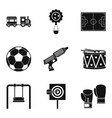 entertainment for boys icons set simple style vector image