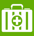 first aid kit icon green vector image vector image