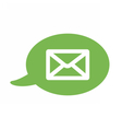 Flat icon with a bubble and a message sms vector image