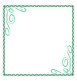 frame green 5 2210 vector image vector image