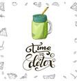 fresh drink menu template design banner vector image vector image