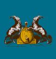 goats beer logo poster vector image