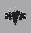 grapes bunches silhouette vector image