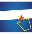hand cursor with remember ribbon vector image
