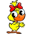 Hand-drawn of an cute chicken baby vector image vector image